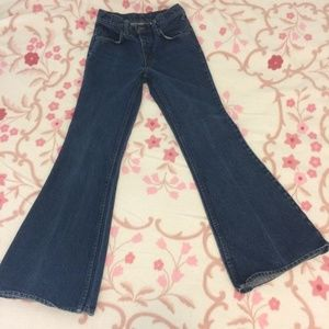 Levis S XS 25 high waisted flares wide leg vintage